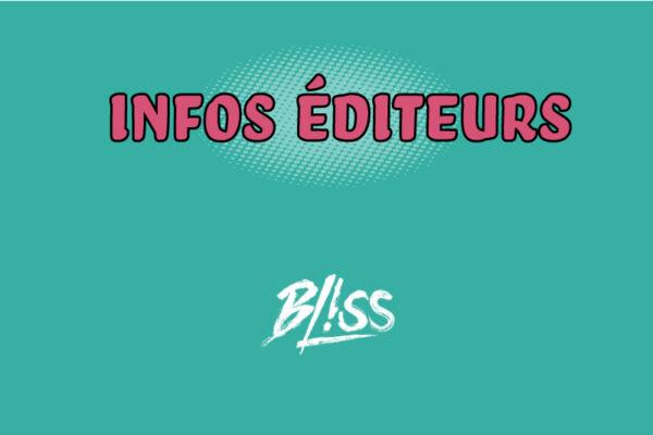 Confinement : Bliss Editions communique son planning de sorties